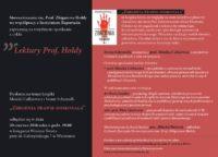 """Lektury Prof.Hołdy. Spotkanie 30: """"Zbrodnia prawie doskonała"""""""
