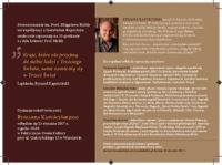 Lektury prof.Hołdy – spotkanie 33 wokół twórczości Ryszarda Kapuścińskiego