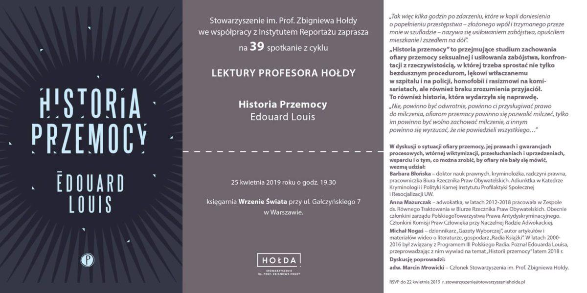 39 Lektury prof.Hołdy: Historia Przemocy