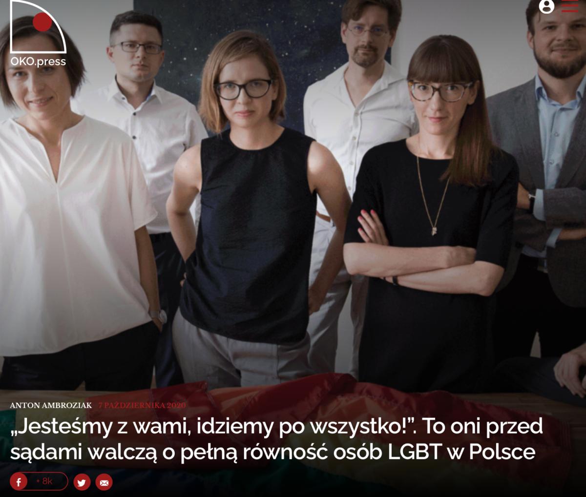 """""""Jesteśmy zwami, idziemy powszystko!"""". Tooni przedsądami walczą opełną równość osób LGBT wPolsce"""