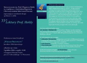 """Lektury Prof.Hołdy. Spotkanie 32 """"Wielki Przypływ"""""""